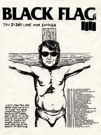 pettibon black flag flyer