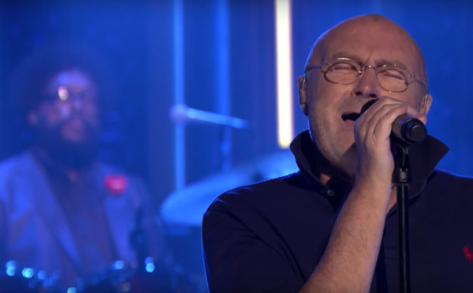 phil collins in the air tonight live