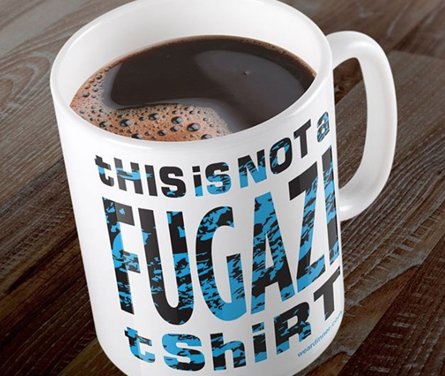 this is not a fugazi t-shirt mug