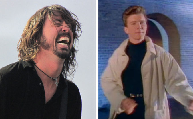 foo fighters rickroll